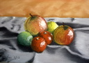 Nature morte aux mandarines - Pastel 20x14 - 03.2013