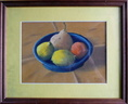 Coupelle bleue aux fruits - Pastel 22x16 - 01.2015